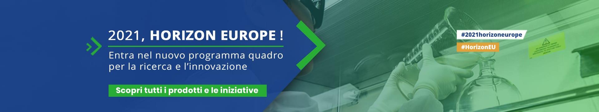 banner campagna 2021 Horizon EU