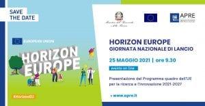 Save the Date Giornata nazionale Horizon Europe 25 maggio